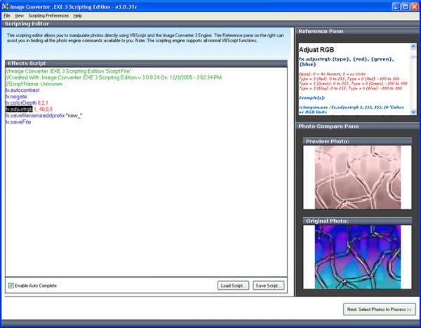 Vorschau Image Converter .EXE 3 Scripting Edition - Bild 1