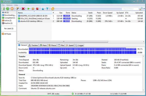 Vorschau uTorrent µTorrent - Bild 1
