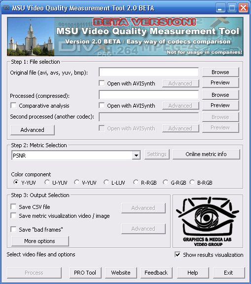 Vorschau MSU Video Quality Measurement Tool - Bild 1