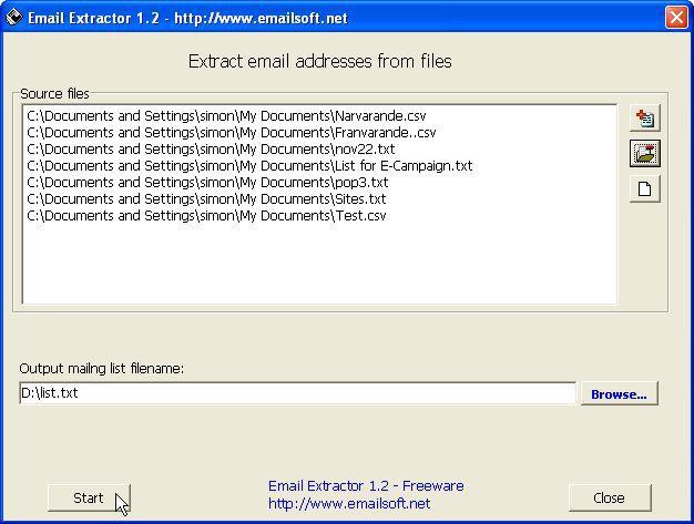 Vorschau Email Extractor - Bild 1