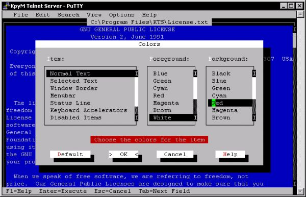 Vorschau KpyM Telnet/SSH Server - Bild 1