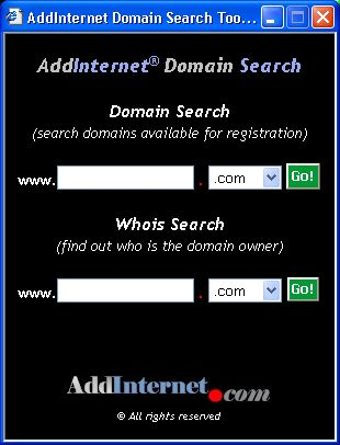 Vorschau AddInternet Domain Search - Bild 1
