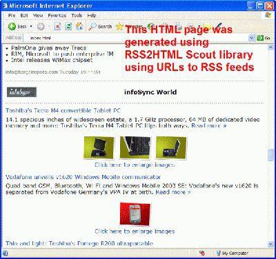 Vorschau RSS2HTML Scout - Bild 1