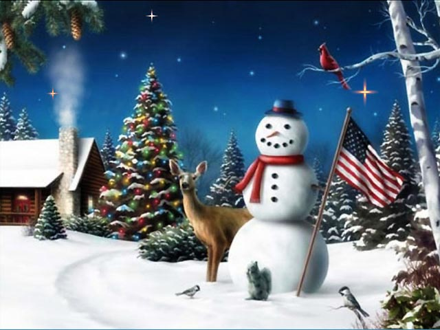 Vorschau Free American Snowman ScreenSaver - Bild 1
