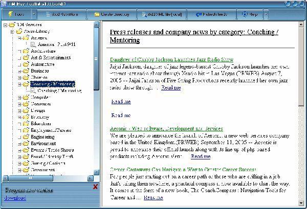 Vorschau TM RSS Toolkit - Bild 1