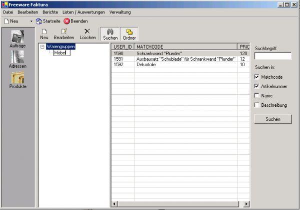 Vorschau Freeware Faktura - Bild 1