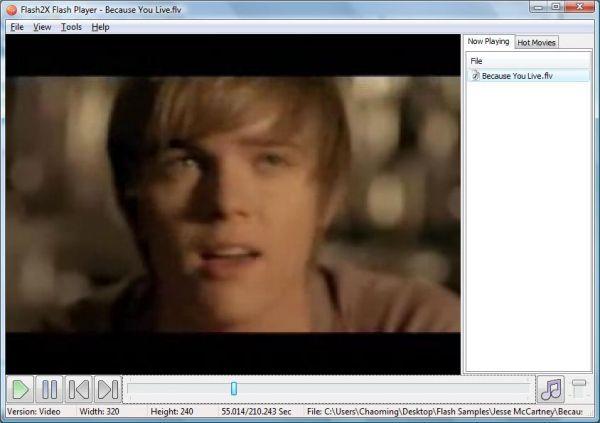Vorschau Flash2X Flash Player - Bild 1