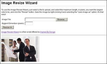 Vorschau Image Resize Wizard - Bild 1