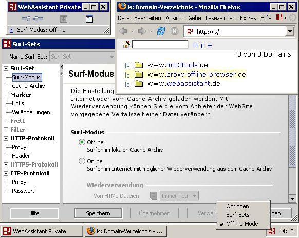 Vorschau MM3-WebAssistant - Proxy Offline Browser - Bild 1