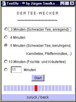 Vorschau Online TeaTimer - Online TeeUhr - Bild 1