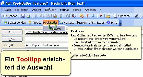 Vorschau ReplyButler - Textbausteine fuer Outlook - Bild 1