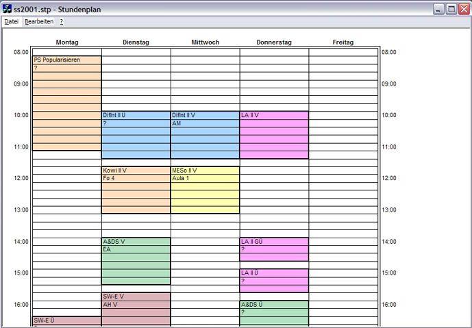 Vorschau Stundenplan - Bild 1