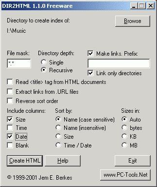 Vorschau DIR2HTML - Bild 1