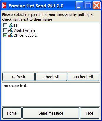 Vorschau Fomine Net Send GUI - Bild 1