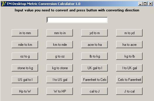 Vorschau TM Desktop Metric Conversion Calculator - Bild 1