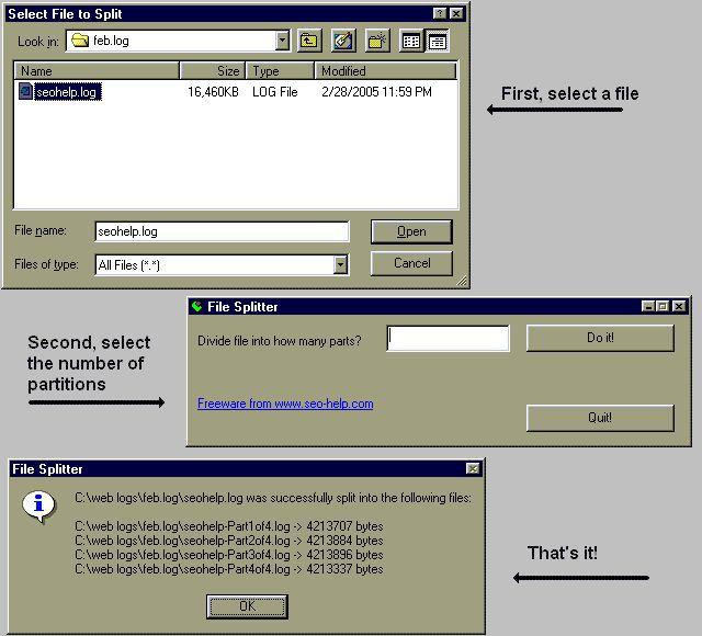 Vorschau File Splitter - Bild 1