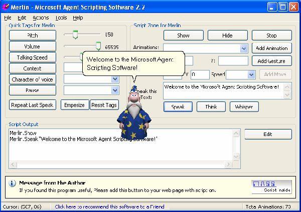 Vorschau MS-Agent Scripting Software - Bild 1