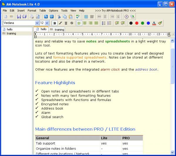 Vorschau AM-Notebook Lite - Bild 1