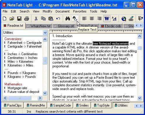 Vorschau NoteTab Light - Bild 1
