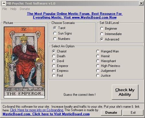Vorschau MB Psychic Test Software - Bild 1