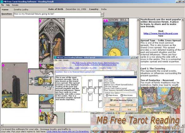 Vorschau MB Tarot Reading Software - Bild 1