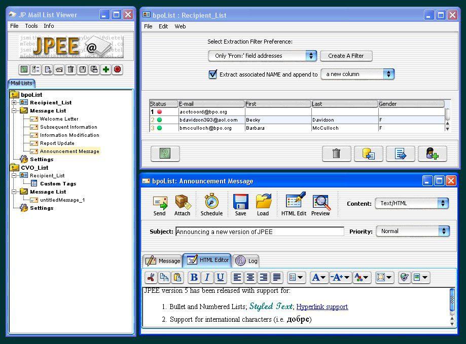 Vorschau JPEE Email Utility - Bild 1