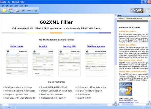 Vorschau 602XML Form Filler - Bild 1