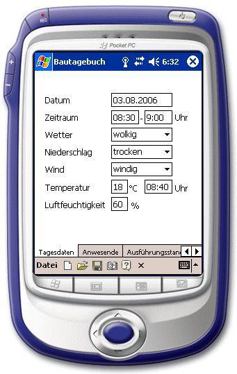 Vorschau Bautagebuch Mobile -for Pocket PC- - Bild 1