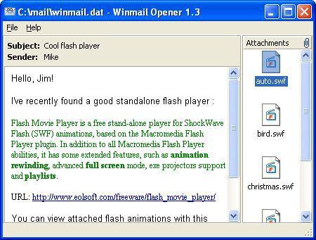 Vorschau Winmail Opener - Bild 1