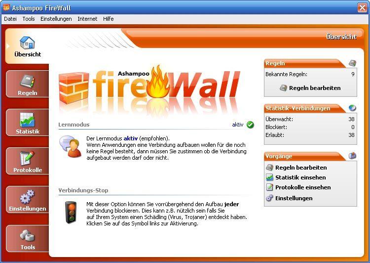 Vorschau Ashampoo Firewall - Bild 1