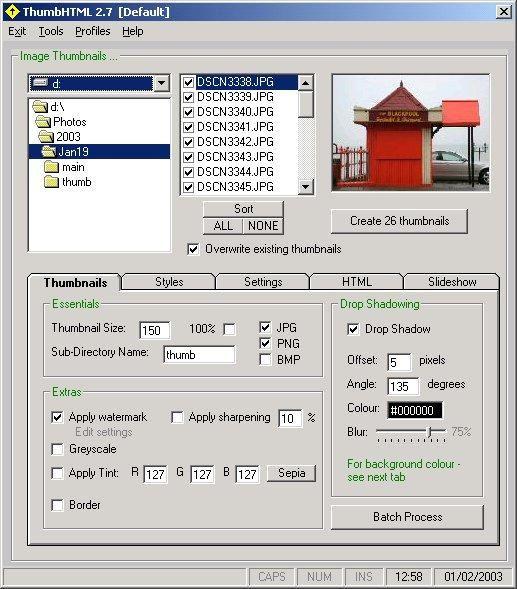 Vorschau ThumbHTML - Bild 1