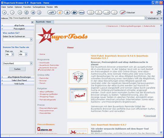 Vorschau Buyertools Browser 0.9 and Reminder 1.5.8 - Bild 1