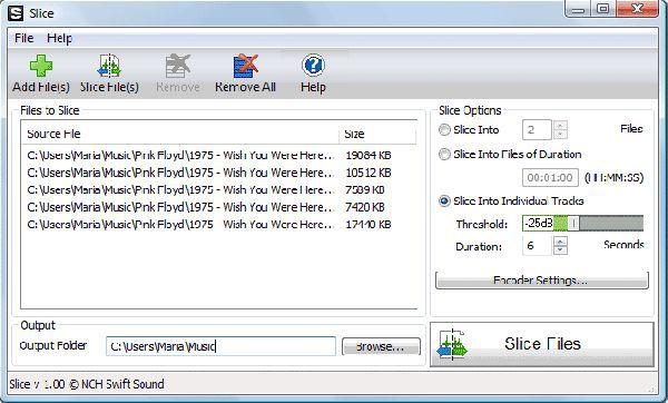 Vorschau Slice Audio File Splitter - Bild 1