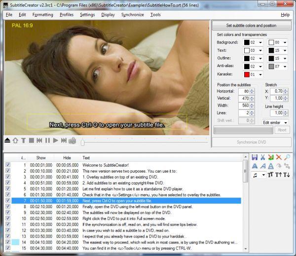 Vorschau SubtitleCreator - Bild 1