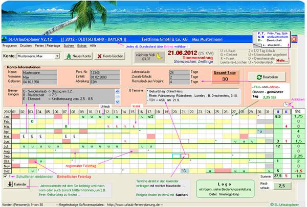 Vorschau SL-Urlaubsplaner - Bild 1