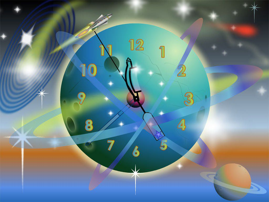 Vorschau Rocket Clock ScreenSaver - Bild 1