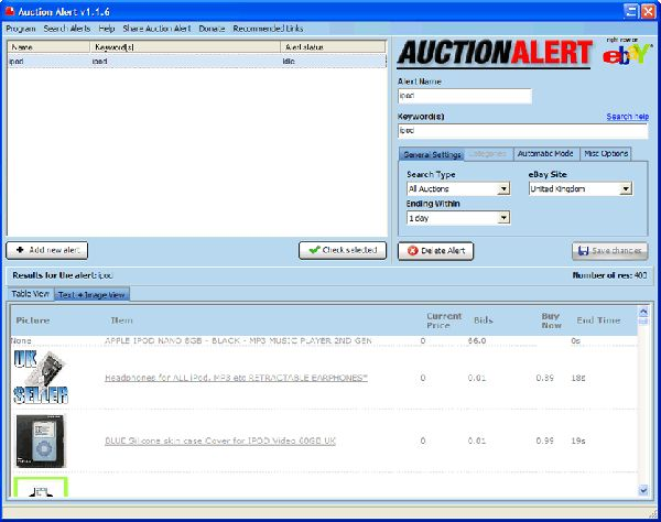 Vorschau Auction Alert eBay Software - Bild 1