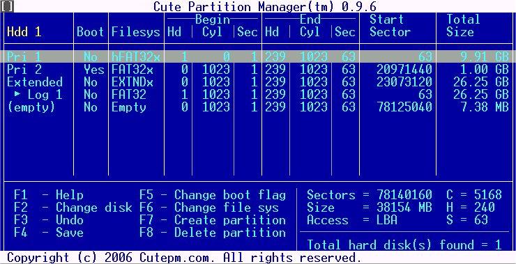 Vorschau Cute Partition Manager - Bild 1