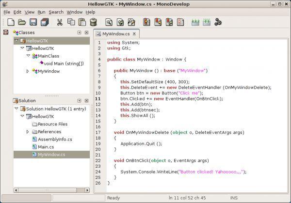Vorschau Mono for Linux - Bild 1