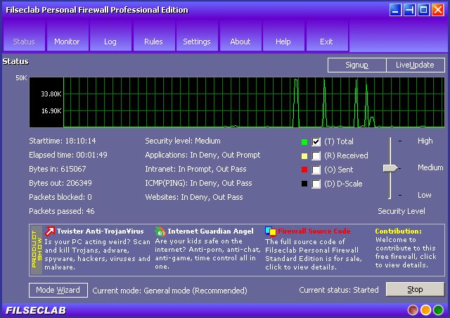 Vorschau Filseclab Personal Firewall Professional - Bild 1