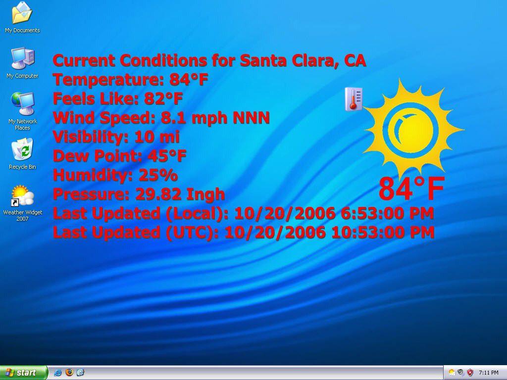 Vorschau Weather Widget 2007 - Bild 1