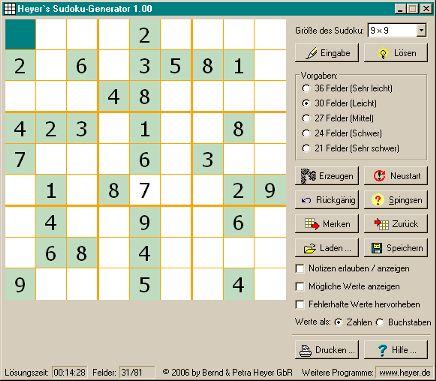 Vorschau Heyer s Sudoku-Generator - Bild 1