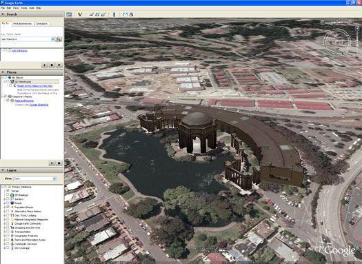 Vorschau Google Earth for Linux - Bild 1