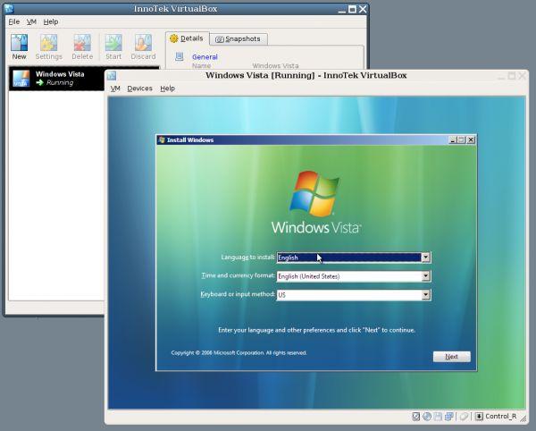 Vorschau VirtualBox - Bild 1