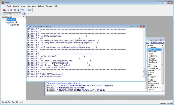 Vorschau AdiIRC - Internet Relay Client - Bild 1