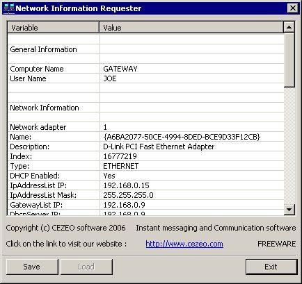 Vorschau Network Info Requester - Bild 1