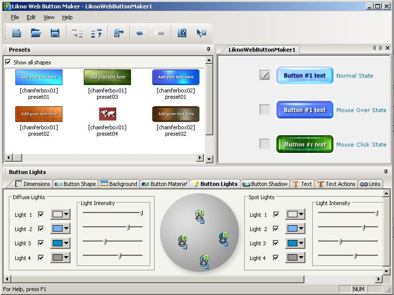 Vorschau Likno Web Button Maker Free - Bild 1