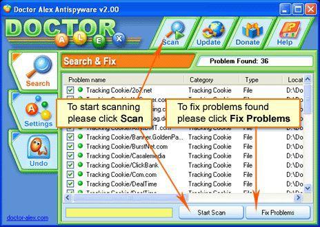 Vorschau Doctor Alex Antispyware Free - Bild 1
