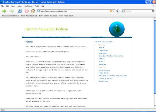 Vorschau Firefox Community Edition Standard - Bild 1