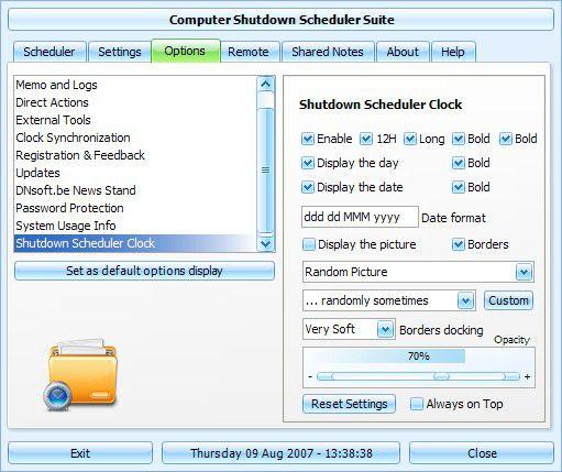 Vorschau Shutdown Scheduler - Bild 1